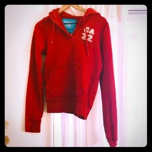 Hollister red hoodie.  Comfy, cozy, like new!